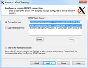 XDMCP hosts can be chosen interactively